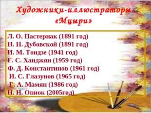 Л. О. Пастернак (1891 год) Н. Н. Дубовской (1891 год) И. М. Тоидзе (1941 год)
