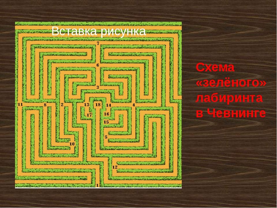 Схема «зелёного» лабиринта в Чевнинге