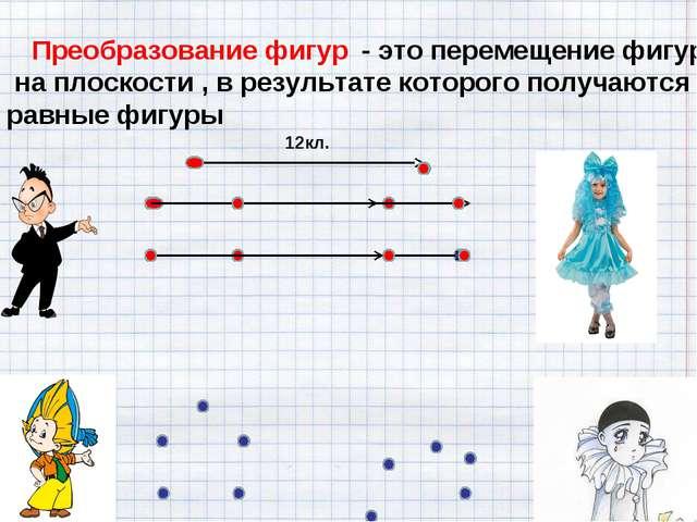 - это перемещение фигур на плоскости , в результате которого получаются равн...