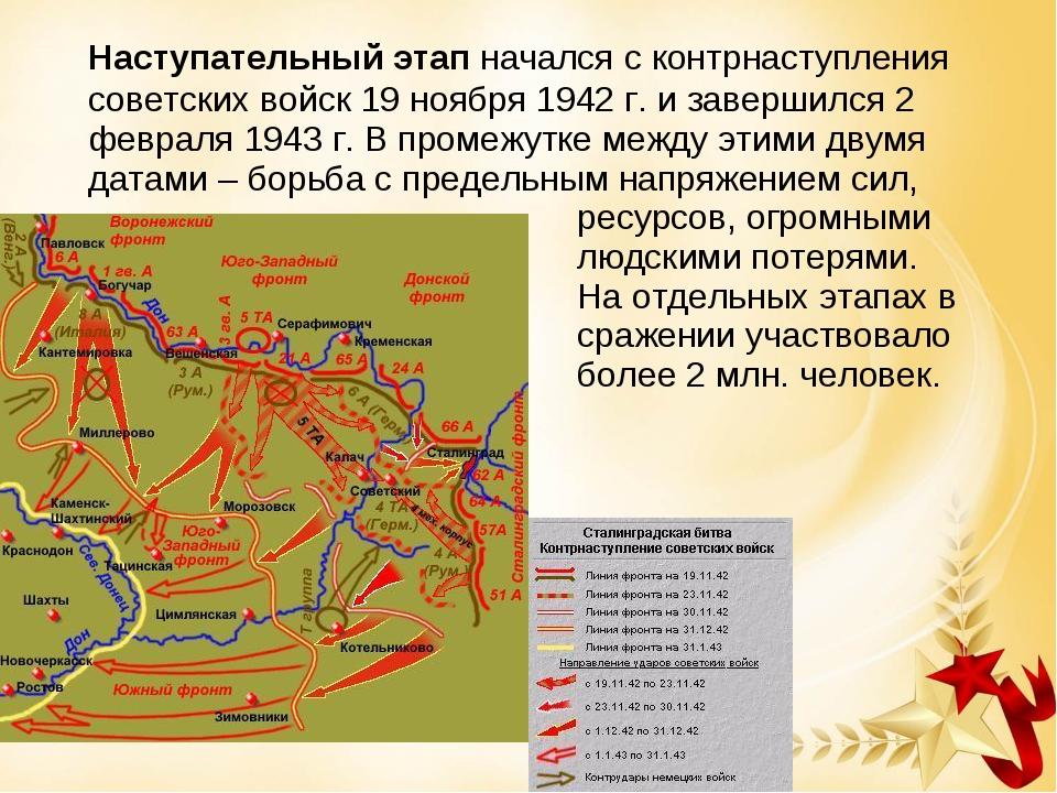 Наступательный этап начался с контрнаступления советских войск 19 ноября 194...
