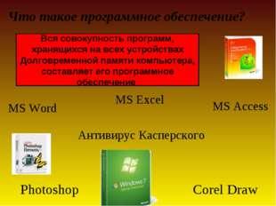 MS Excel Антивирус Касперского Что такое программное обеспечение? Вся совоку
