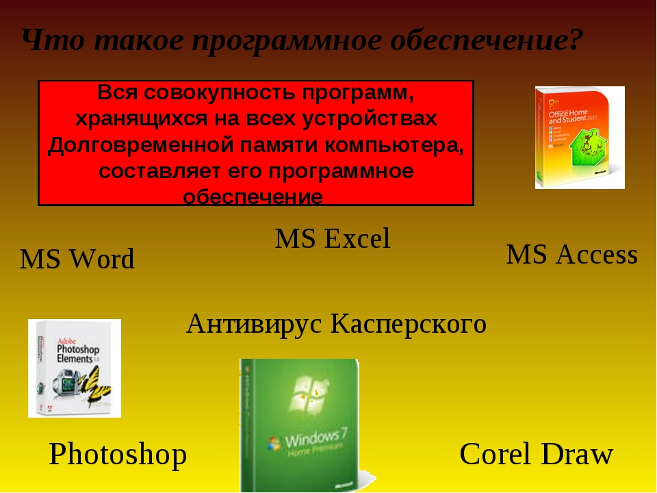 MS Excel Антивирус Касперского Что такое программное обеспечение? Вся совоку...