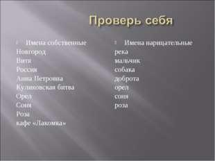 Имена собственные Новгород Витя Россия Анна Петровна Куликовская битва Орел С