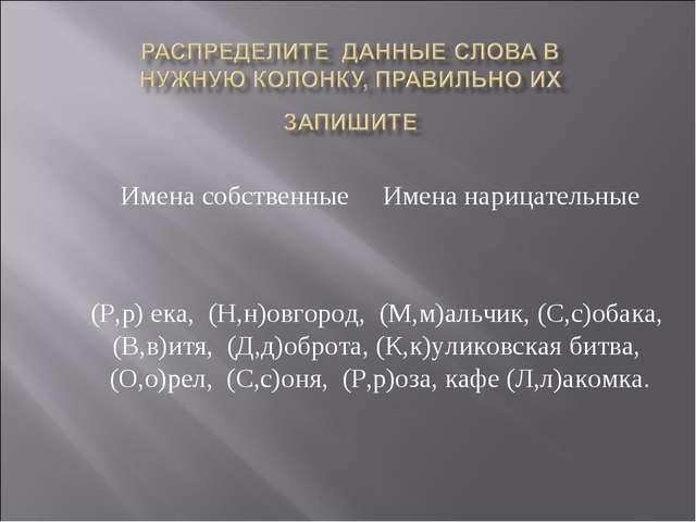 Имена собственные Имена нарицательные (Р,р) ека, (Н,н)овгород, (М,м)альчик, (...