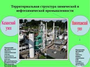 Территориальная структура химической и нефтехимической промышленности Продукц