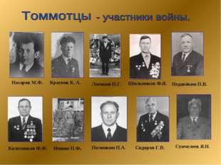 Колесников Ф.Ф. Логинов П.Г. Нешин П.Ф. Полянкин П.А. Сидоров Г.В. Сунчелеев