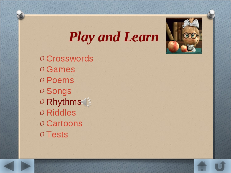 Play and Learn Crosswords Games Poems Songs Rhythms Riddles Cartoons Tests