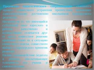 Предметом педагогического сопровождения становится процесс совместного устран