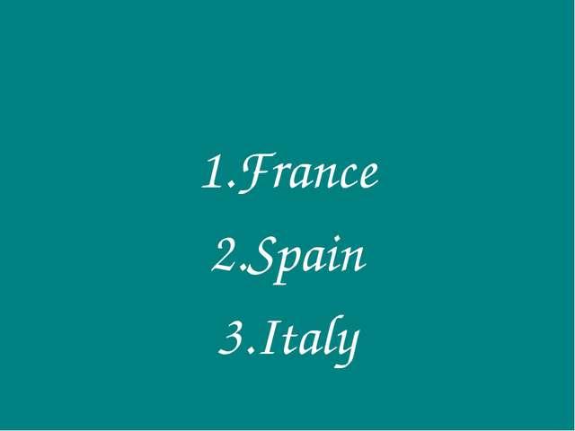 France Spain Italy