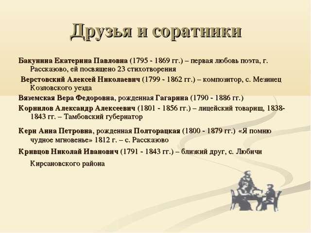 Друзья и соратники Бакунина Екатерина Павловна (1795 - 1869 гг.) – первая люб...