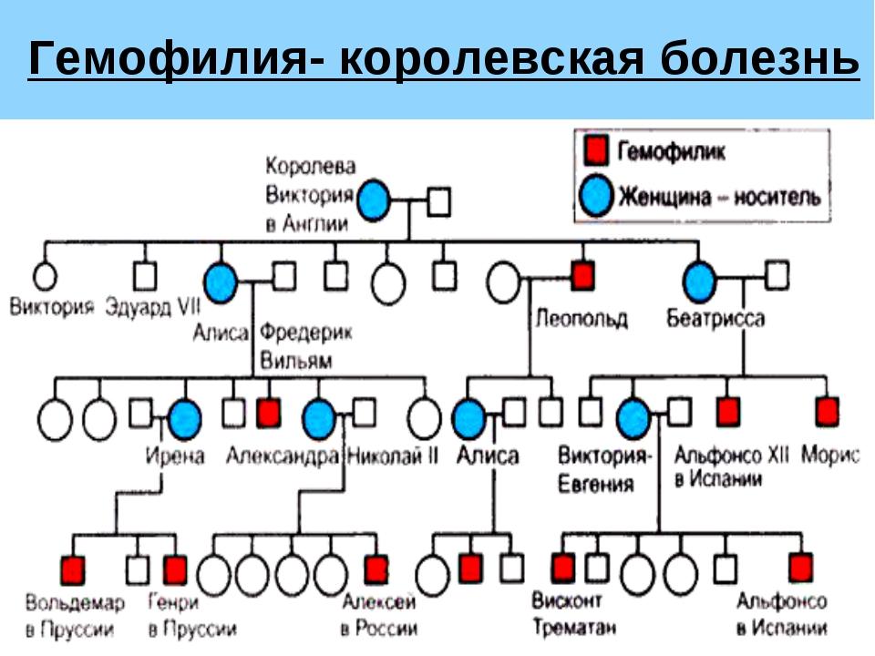 Гемофилия- королевская болезнь