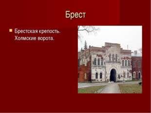 Брест Брестская крепость. Холмские ворота.