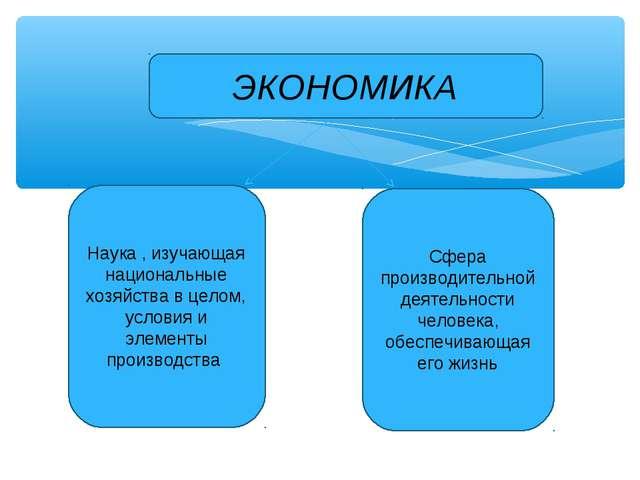 Наука , изучающая национальные хозяйства в целом, условия и элементы производ...
