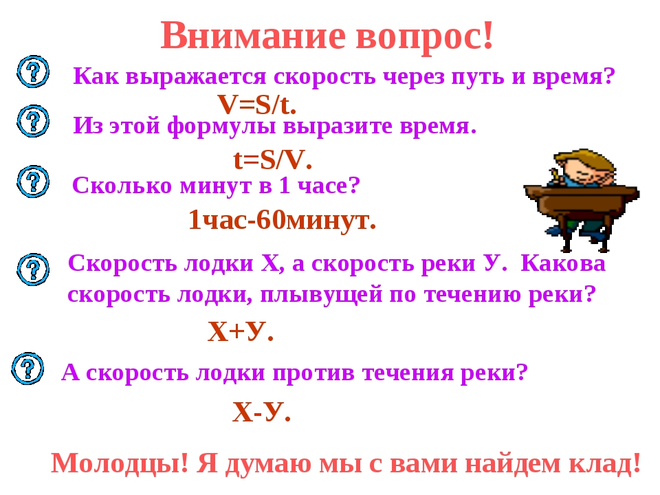 Внимание вопрос! Как выражается скорость через путь и время? V=S/t. t=S/V. Из...