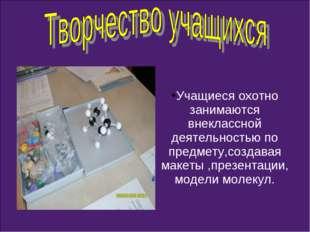 Учащиеся охотно занимаются внеклассной деятельностью по предмету,создавая мак