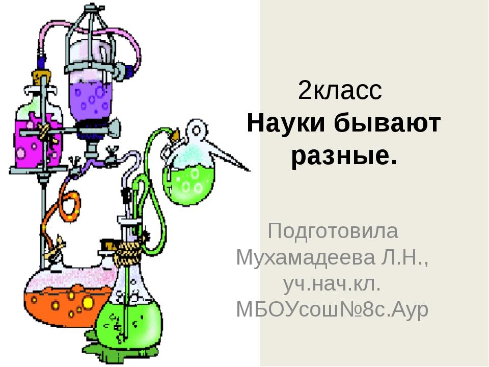 2класс Науки бывают разные. Подготовила Мухамадеева Л.Н., уч.нач.кл. МБОУсош№...