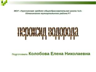 МОУ «Уруссинская средняя общеобразовательная школа №3» Ютазинского муниципаль