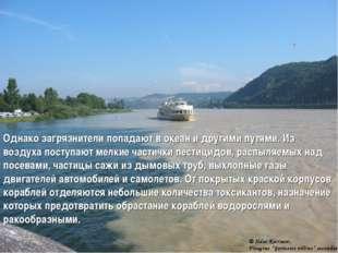 Однако загрязнители попадают в океан и другими путями. Из воздуха поступают м
