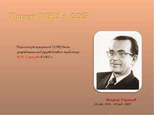 Техническая концепция ГСВЦ была разработана под руководством академика В.М.