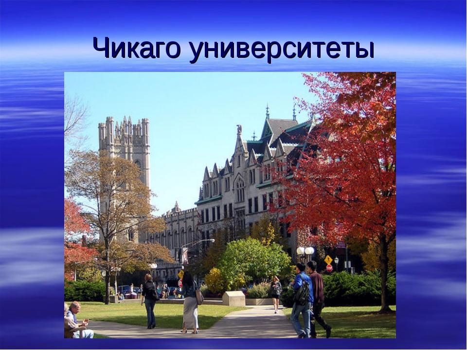 Чикаго университеты
