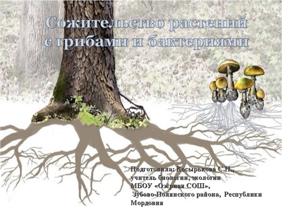 Подготовила: Косырькова С.Н., учитель биологии, экологии МБОУ «Озёрная СОШ»,...