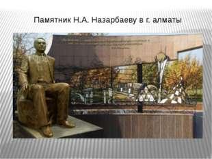 Памятник Н.А. Назарбаеву в г. алматы