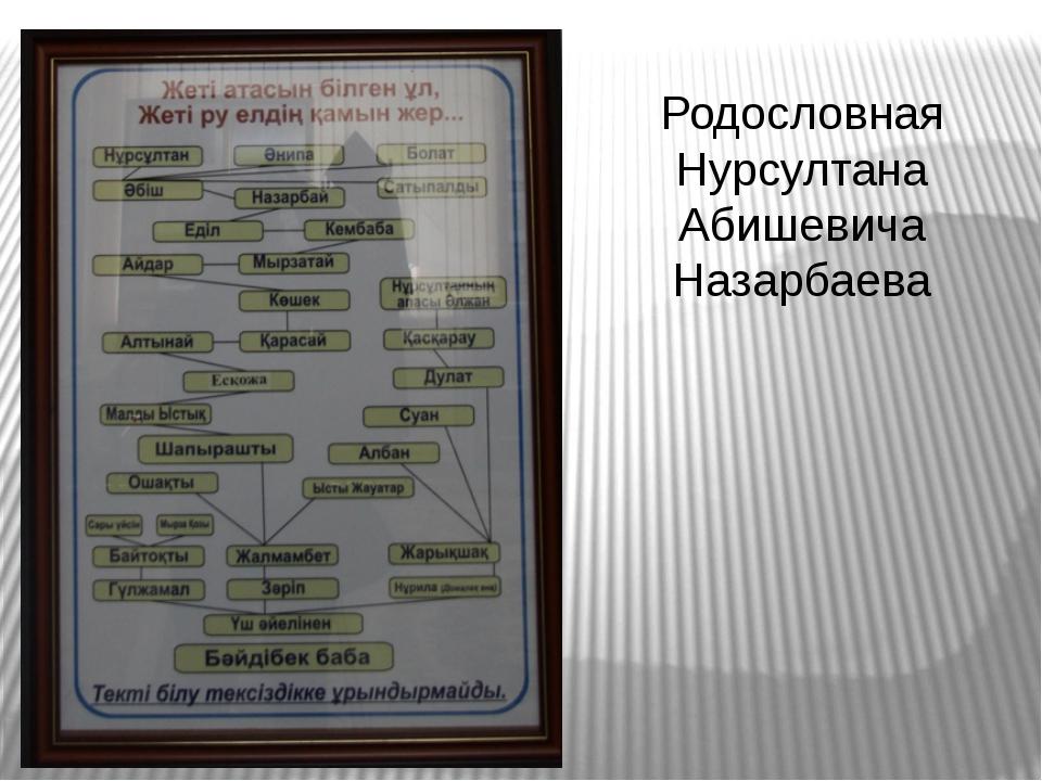 Родословная Нурсултана Абишевича Назарбаева