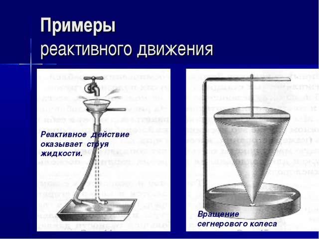 Примеры реактивного движения Реактивное действие оказывает и струя жидкости....