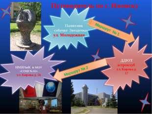 Памятник собачке Звездочка ул. Молодежная Путеводитель по г. Ижевску Маршрут