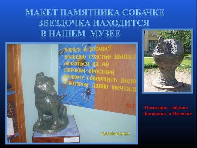 Памятник собачке Звездочка в Ижевске