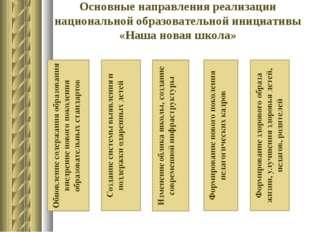 Основные направления реализации национальной образовательной инициативы «Наша
