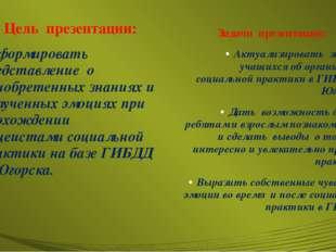 Цель презентации: Сформировать представление о приобретенных знаниях и получе