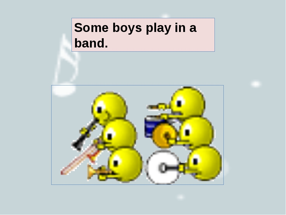 Some boys play in a band.