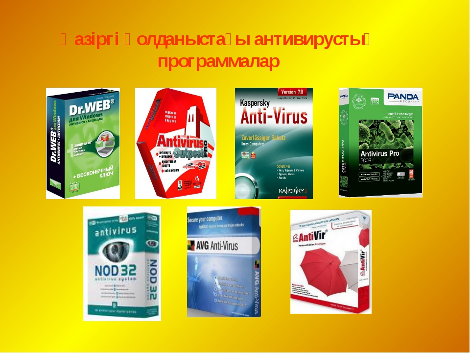 Қазіргі қолданыстағы антивирустық программалар