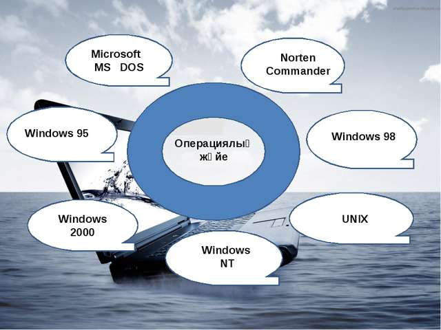 Операциялық жүйе Microsoft MS DOS Norten Commander Windows 95 Windows 98 Wind...