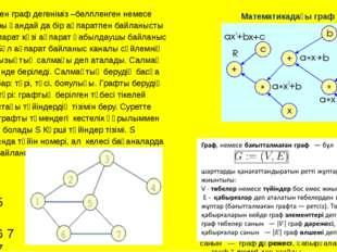 Белгіленген граф дегеніміз –белгіленген немесе сызықтары қандай да бір ақпара