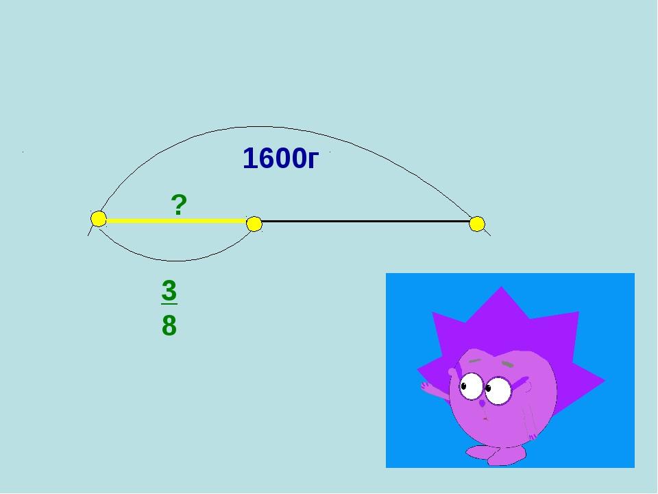 Проверьте свое решение: 1600г 3 8 ?