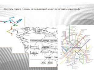 Привести пример системы, модель которой можно представить в виде графа