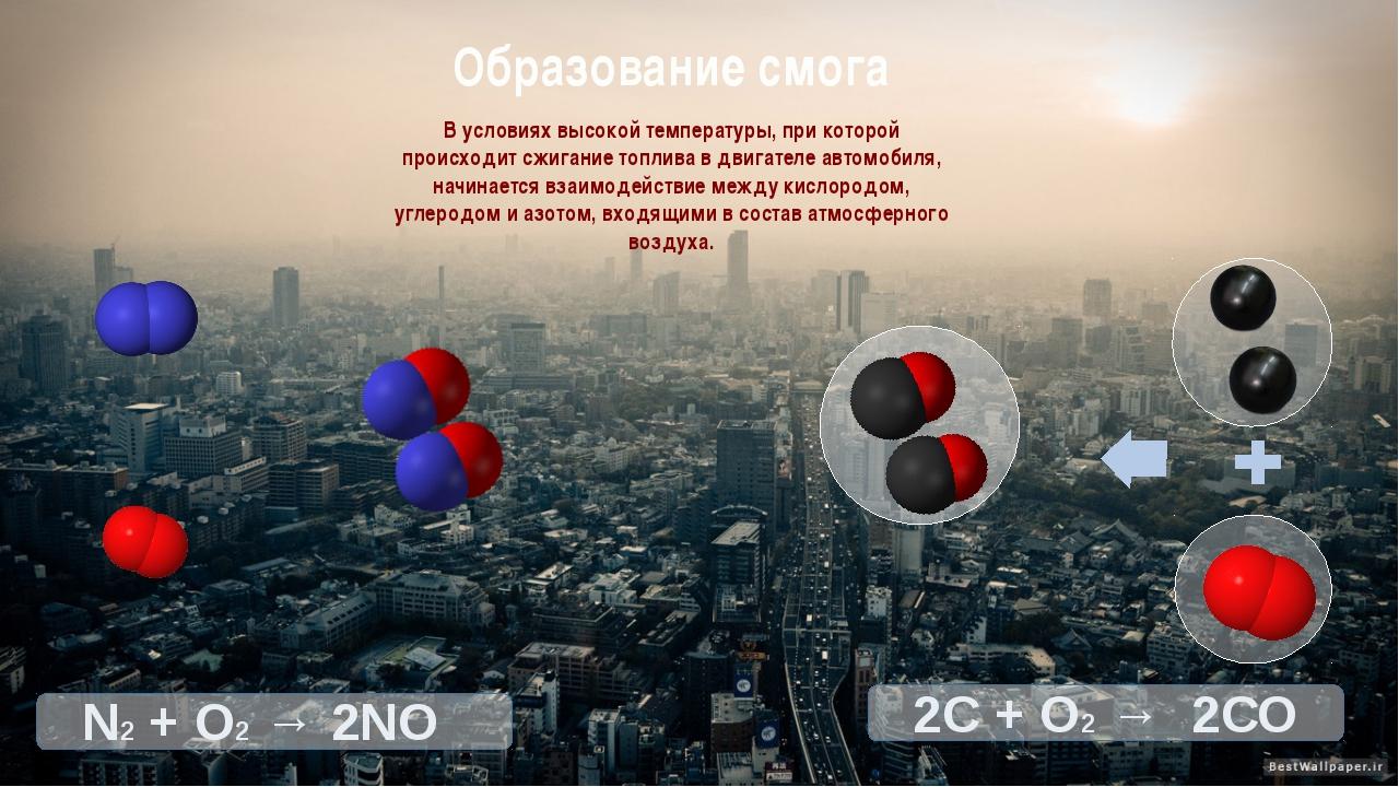 В условиях высокой температуры, при которой происходит сжигание топлива в дви...
