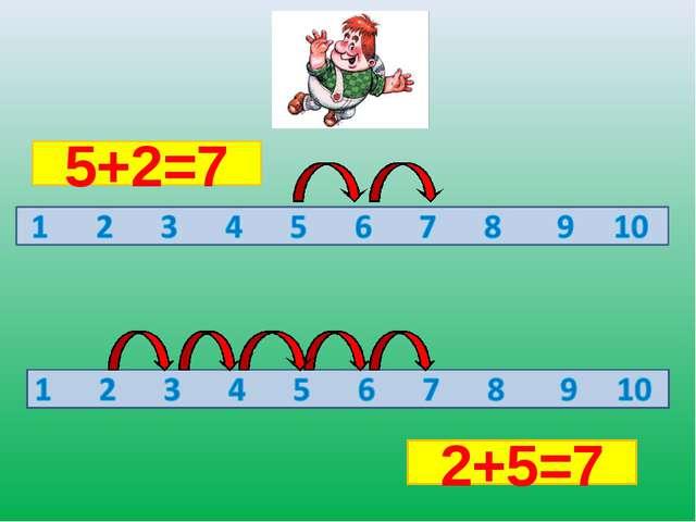 5+2=7 2+5=7