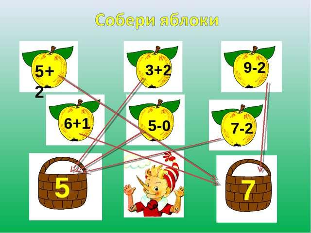5+2 3+2 9-2 6+1 5-0 7-2 5 7