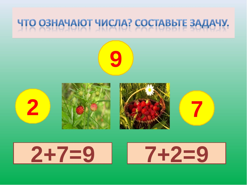 2 9 7 2+7=9 7+2=9