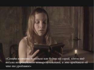 «Сонина комната походила как будто на сарай, имела вид весьма неправильного ч