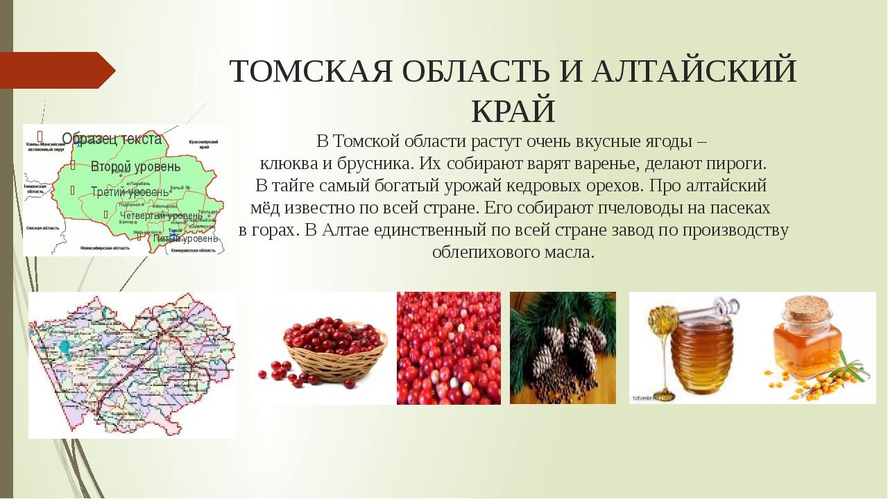 ТОМСКАЯ ОБЛАСТЬ И АЛТАЙСКИЙ КРАЙ В Томской области растут очень вкусные ягоды...