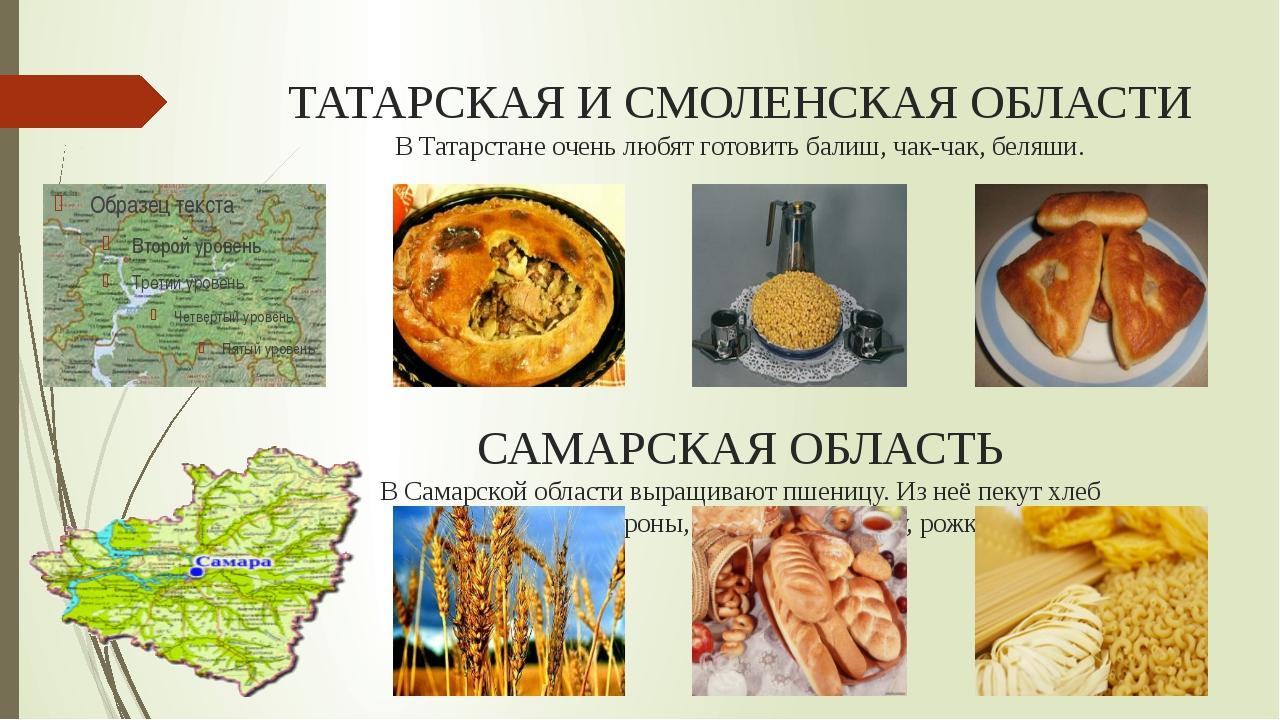 ТАТАРСКАЯ И СМОЛЕНСКАЯ ОБЛАСТИ В Татарстане очень любят готовить балиш, чак-ч...