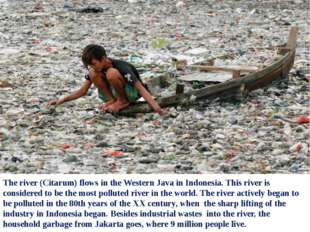 The river (Citarum) flows in the Western Java in Indonesia. This river is con