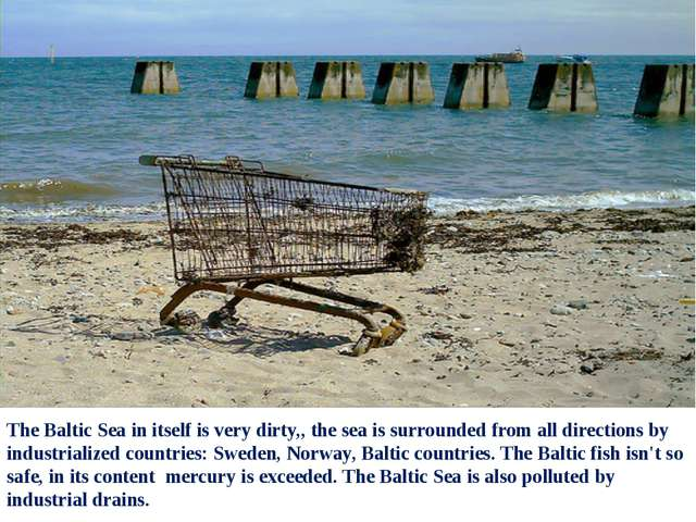 The Baltic Sea in itself is very dirty,, the sea is surrounded from all direc...