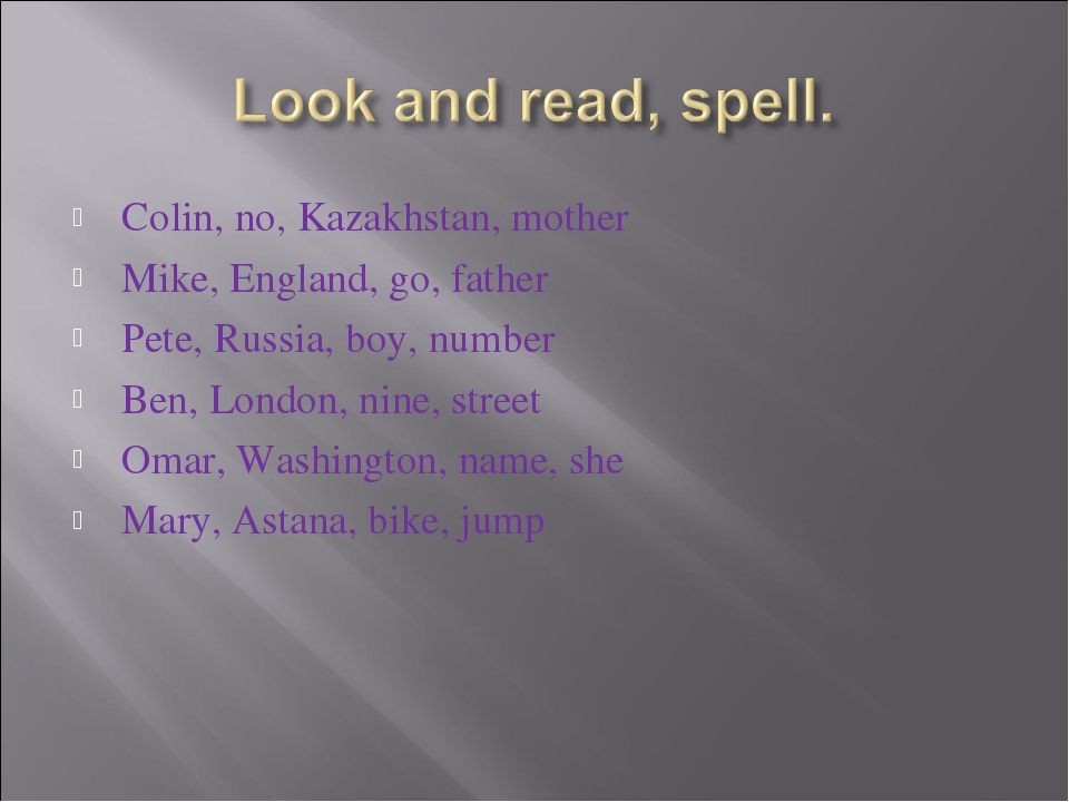 Colin, no, Kazakhstan, mother Mike, England, go, father Pete, Russia, boy, nu...