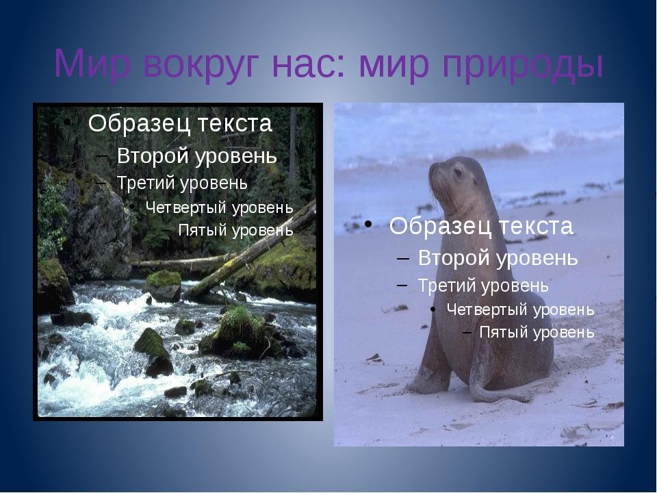 Мир вокруг нас: мир природы