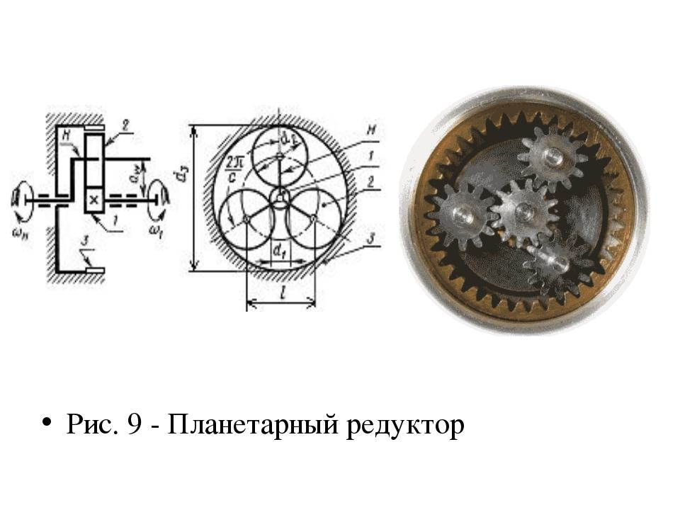 Рис. 9 - Планетарный редуктор